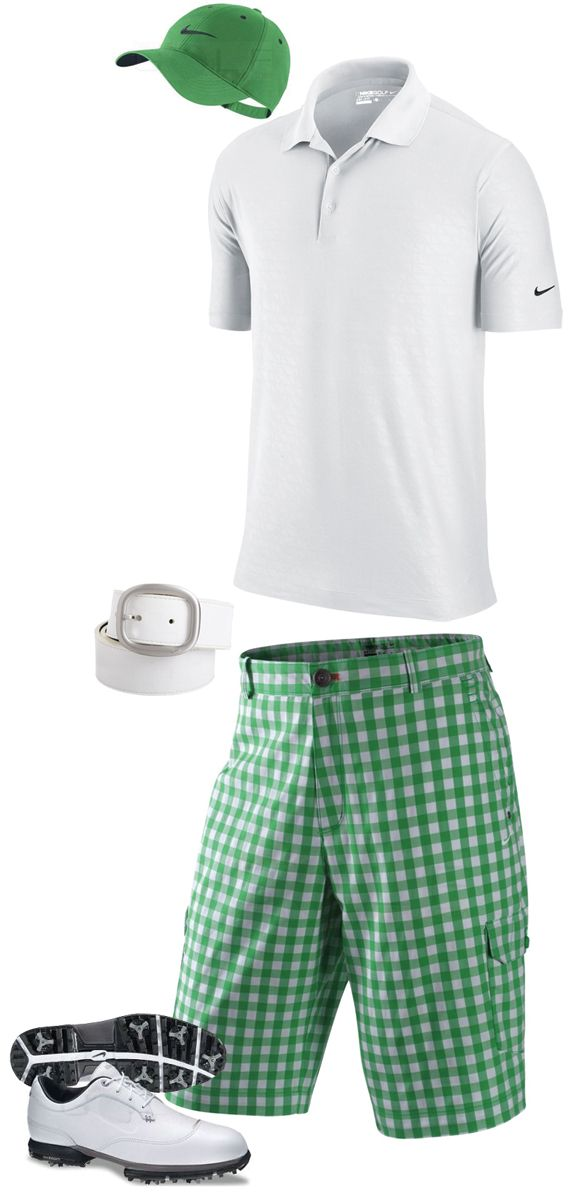Nike Golf Fashion : Gym Green & White Colors