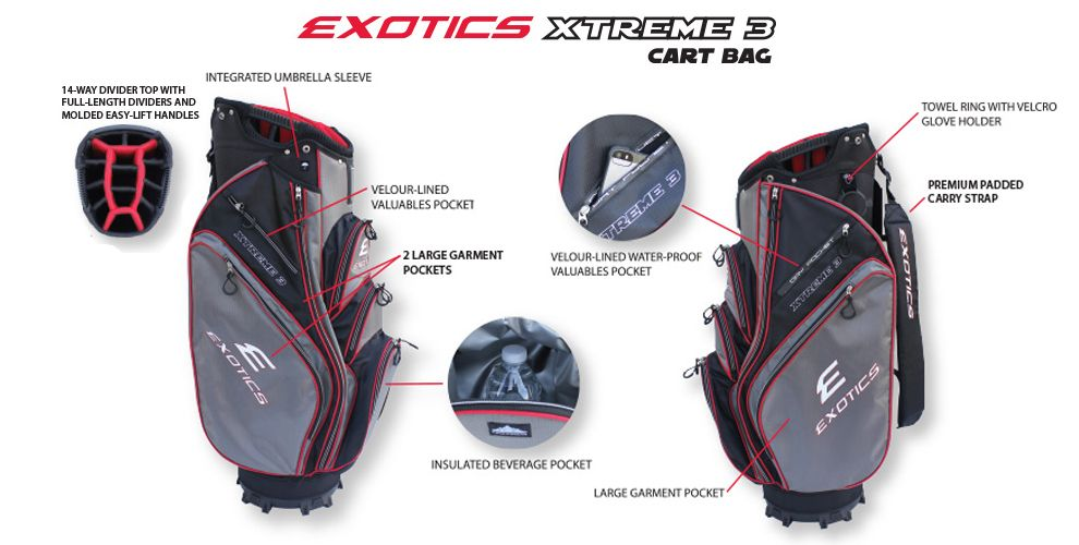Exotics Xtreme 3 Cart Bag