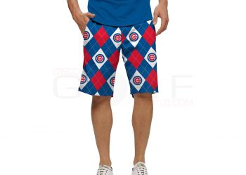 Loudmouth Chicago Cubs Argyle Shorts